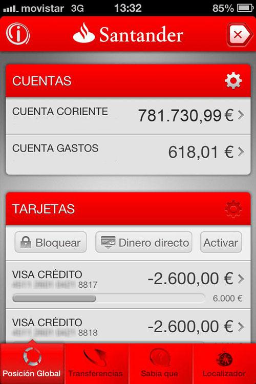 Marca Santander Cuenta Banco