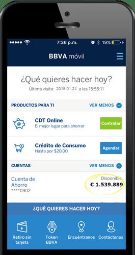 Cuenta banco BBVA